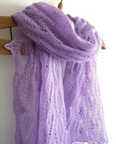 Lavender and Lace  | Lavender lace shawl