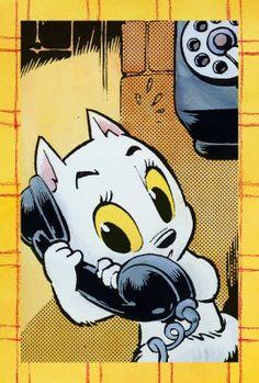 Tom Poes aan de telefoon