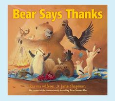 Bear Says Thanks - Thanksgiving book #giftidea