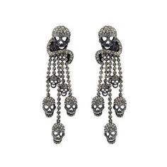 diamond skull earrings ❤ liked on Polyvore featuring jewelry, earrings, jewelry-earrings, skull jewellery, diamond skull earrings, earrings jewelry, diamond skull jewelry and diamond earring jewelry