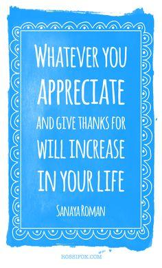 Sanaya Roman Gratitude Quote
