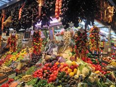Open Market - Las Ramblas, Barcelona, Spain - You can smell the freshness of wonderful food!