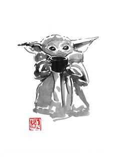 Original Cinema Drawing by Pechane Sumie Sumi E Painting, Star Wars Humor, Poster Prints, Art Prints, Affordable Art, Female Art, Fine Art Paper, Home Art, Les Oeuvres