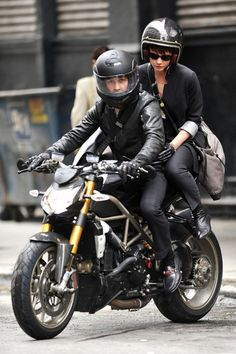 Shia LaBeouf and Carey Mulligan on Ducati in Wall Street 2.