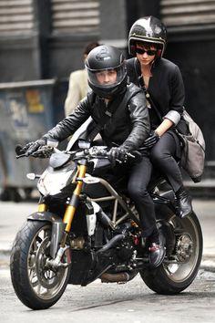 Shia LaBeouf and Carey Mulligan on Ducati in Wall Street 2.