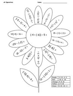 math coloring pages 7th grade 06 | School