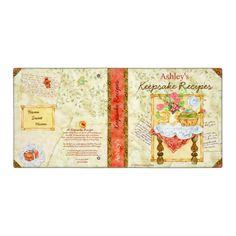 My Keepsake Recipes 3 ring binder created by Debbie Kingston Baker Wedding Binder Organization, Recipe Binders, Binder Inserts, Binder Design, 3 Ring Binders, Custom Binders, Memory Books, Cookbook Recipes, Cookbook Ideas