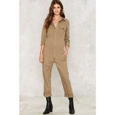 Citizens of Humanity Tallulah Utility Jumpsuit ($308) ❤ liked on Polyvore featuring jumpsuits, green, citizens of humanity jumpsuit, cotton jumpsuit, jump suit, green jumpsuit and citizens of humanity