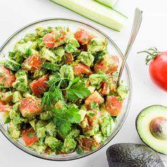 Need some salad-spriation? Cucumber Tomato Avocado Salad might do it! ~Dix   https://www.wholesomeyum.com/recipes/cucumber-tomato-avocado-salad-paleo-low-carb/?utm_sq=ffnxxzm1kn&utm_source=Twitter&utm_medium=social&utm_campaign=wholesomeyum&utm_content=WY