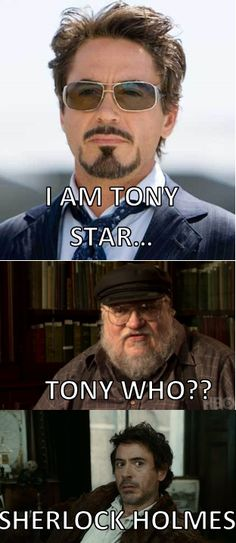 """Who I Am"" I love Game of Thrones, Marvel, RDJ, and Sherlock. A great post to sum it all up!"