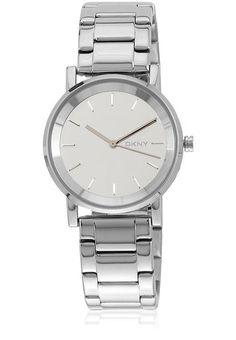 Smart lady wear simply smart watch --> DKNY Women's Watch Silver Tone Bracelet & Mirror Dial SOHO w/Box NY2177 #DKNY #Dress #Fashion $79.77