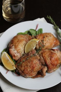 Easy Perfect Lemon Rosemary Chicken - suitable for Dr. Oz's 2 Week Rapid Weight Loss Diet (sub olive oil for butter)