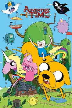 Adventure Time House - Official Poster. Official Merchandise. Size: 61cm x 91.5cm. FREE SHIPPING