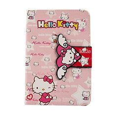 TFS Cute Hello Kitty Flip Wallet PU Leather Case for Apple iPad iPad 6 (With Kickstand and Magnetic Sleep/Wake Function) Leather Case, Pu Leather, Ipad Air 2 Cases, Apple Ipad, Sanrio, Hello Kitty, Sleep, Wallet, Iphone