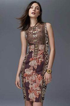Talma Brocade Sheath - anthropologie.com