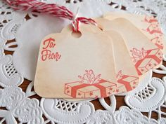 Christmas Gift Tags by PaperWondersShop on Etsy