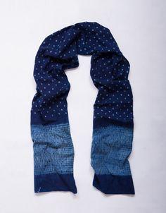 584b65556d0 Incredible  FairTrade  artisan crafted indigo dyed Shibori scarf (Shibori  is a traditional Japanese