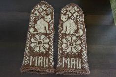 Kissat kerällä: Kissalapaset Mau Gloves, Crafty, Winter, Winter Time, Winter Fashion