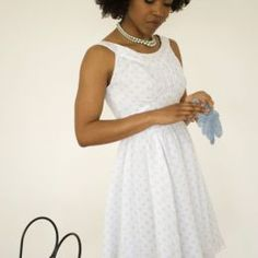 """It's hard to see some of the details with this fabric against that background, but this dress pattern is perfect. It has a curved midriff. Unfortunately it isn't really """"cut out"""" (haha) for nursing in...."""