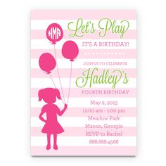 Playground Birthday Invitation Printable by SunshineInkStudio