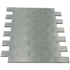 peel & stick mini subway aluminium tiles backsplashes for kitchen and bathrooms. Shop for metal backsplash tiles at Metal Tile Backsplash, Peel Stick Backsplash, Backsplash Panels, Peel And Stick Tile, Stick On Tiles, Mosaic Tiles, Wall Tiles, Kitchen Backsplash, Pvc Panels