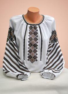 Ukraine, from Iryna Folk Fashion, Ethnic Fashion, Womens Fashion, Embroidered Clothes, Embroidered Blouse, Ukrainian Dress, Ethno Style, Kurta Designs, Folk Costume