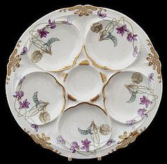 Art Nouveau Theodore Haviland Limoges Oyster Plate (item #672083)