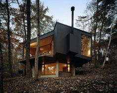 Front view of small contemporary house in swiss style - Maison freshwater brewster hjorth architects ...