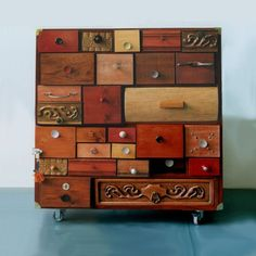 Chest with colored wood drawers                                                                                                                                                                                 More