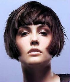 Extra Short Bob with Matching Fringe Pulled Forward. - See more at: http://www.short-hairstyles.com/short/s204.htm#11