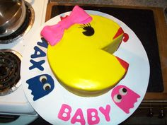Ms Pac Man cake for my sister-in-law's 80's themed baby shower.