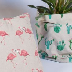 "Baumwolle – feste Qualität ""Linen Look Flamingo"" (natur) Throw Pillows, Pink, Nature, Cotton, Nice Asses, Toss Pillows, Decorative Pillows, Decor Pillows, Scatter Cushions"