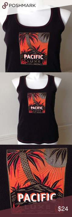 """NWOT Black & Orange """"Pacific Luxe"""" Graphic Tank NWOT Black & Orange """"Pacific Luxe"""" Graphic Tank from Lane Bryant/Venezia Jeans. 100% cotton. Size 18/20. 🚫No holds 🚫No lowball offers 🚫No trades ✅Please submit reasonable offers via the offer button OR 🎁Bundle & save! Lane Bryant Tops Tank Tops"""