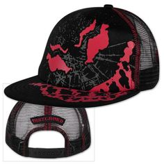 1b89a8cf327 Check out Disturbed Scary Guy Mesh Back Trucker Hat on  Merchbar. Snapback