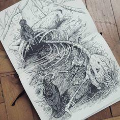 Life and death #art #artwork #drawing #illustration #sketch #sketchbook #artist…