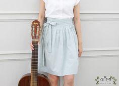 [리리한복/생활한복/일상한복] 짧은 허리치마 - 민트라떼 (민트) : 네이버 블로그