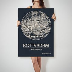 LILLE France map City Street Map Art Print Poster by ArchTravel