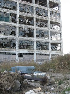 Abandoned Fisher Body Plant in Detroit, MI.