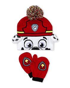 8e06fd5509bc8 Paw Patrol Boys Cold Winter Hat Gloves Beanie SET Mittens Kids ...