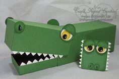 crocodile valentine box designed by Kim Score