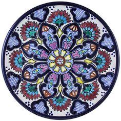 Tomas Huerta TalaveraPlate - Pattern 02 ♥️♣️♣️Talavera Mexican Pottery : More At FOSTERGINGER @ Pinterest ♣️