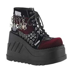 Shop a huge selection of Goth platform boots and punk boots for women. Our Gothic boots for women include platforms, heels, combat style, and much more! High Ankle Boots, Shoe Boots, Women's Boots, Boot Over The Knee, Cute Shoes, Me Too Shoes, Mode Emo, Goth Boots, Gothic Shoes