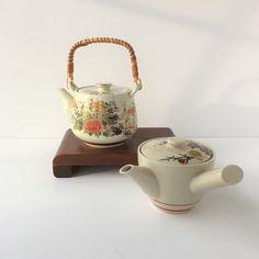 Satsuma Style Teapots, Vintage Japanese Teapots, Mid Century Japanese Teapots, Two Ceramic Teapots, Japanese Motif Teapots, Peacock Teapots by AlegriaCollection on Etsy