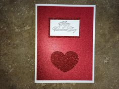 Valentines Day Card Handmade with a Red by eyepoppingcreations