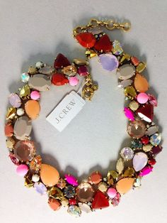 NWT AUTHENTIC J.CREW CRYSTAL FOLIAGE NECKLACE #JCrew #Statement