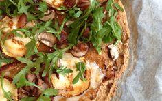 Rhubarb-Chipotle Goat Cheese Pizza, Paleo