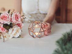 Handmade Glass Geometric Candle Holders by Studio Waen