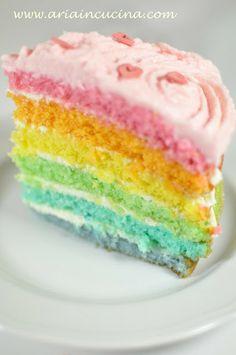Blog di cucina di Aria: Rainbow Cake, o meglio la torta del buonumore per Alice
