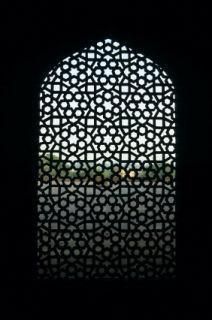 Spanish interior design window grille