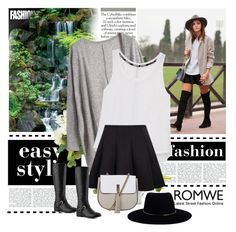 """""""ROMWE Loose Grey Cardigan"""" by narcisaaa ❤ liked on Polyvore featuring Rebecca Minkoff, Ralph Lauren, Topshop, Zimmermann and romwe"""